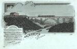 Zeichnung Müngstener Brücke mit Schaberg, Slg. Michael Tettinger
