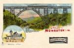 Lithografie Müngstener Brücke, Slg. Michael Tettinger